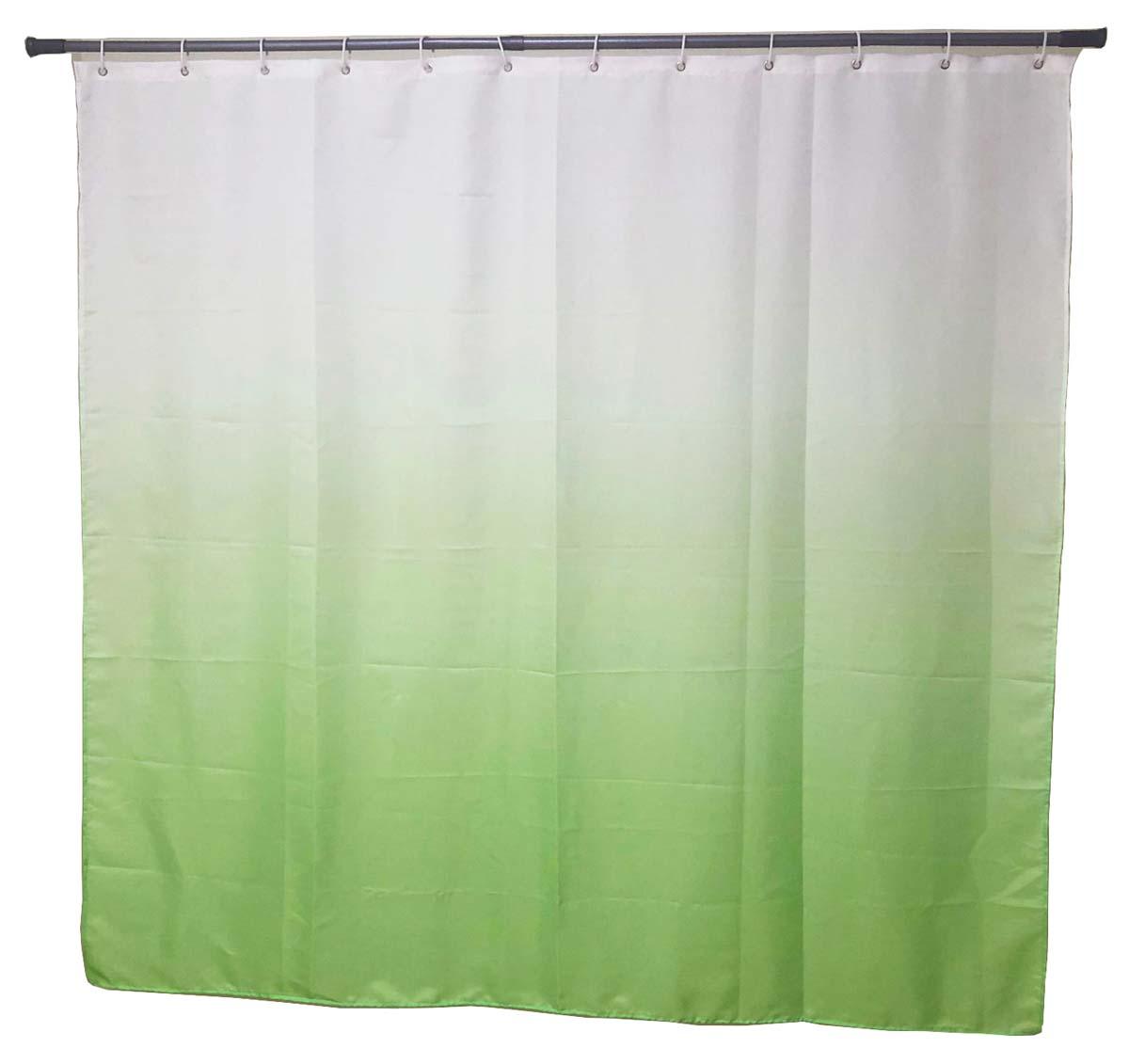 Штора для ванной Swensa Gradient, цвет: зеленый, 180 х 180 смSWC-70-32Штора для ванной комнаты серии Gradient выполнена из полиэстера по инновационной технологии перехода цвета от светлого к более темному. Прекрасно сочетается с настольными аксессуарами серии Gradient, что позволяет оформить Вашу ванную комнату в одном стилистическом решении.