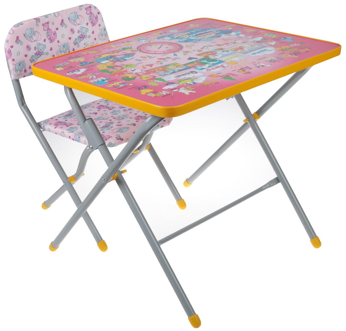 Фея Набор детской мебели Досуг Алфавит цвет розовый набор детской мебели интехпроект трансформер розовый