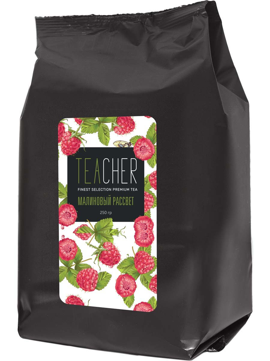 Чай травяной листовой Teacher Малиновый рассвет, 250 г teacher малиновый рассвет чай листовой 500 г