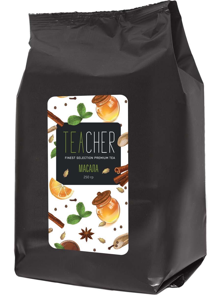 Чай черный листовой Teacher Масала премиум, 250 г teacher масала премиум чай листовой 500 г