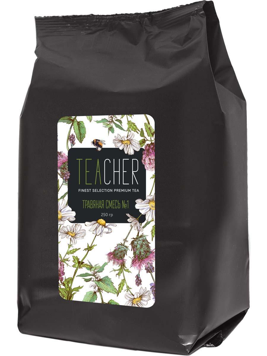 Чай травяной листовой Teacher Травяная смесь №1, 250 г caffenick душица травяной листовой чай 500 г