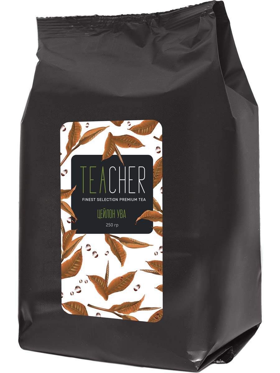 Чай черный листовой Teacher Цейлон Ува, 250 г teacher карельский чай цветочно травяной купаж 500 г