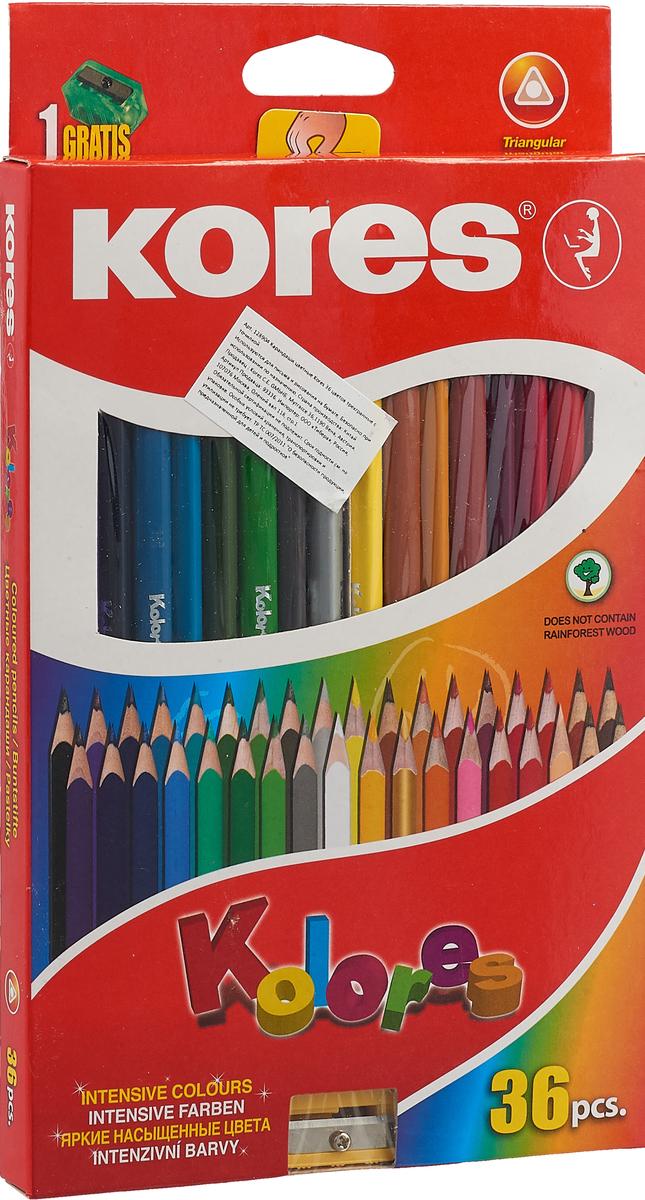 Kores Набор цветных карандашей с точилкой 36 цветов 128904