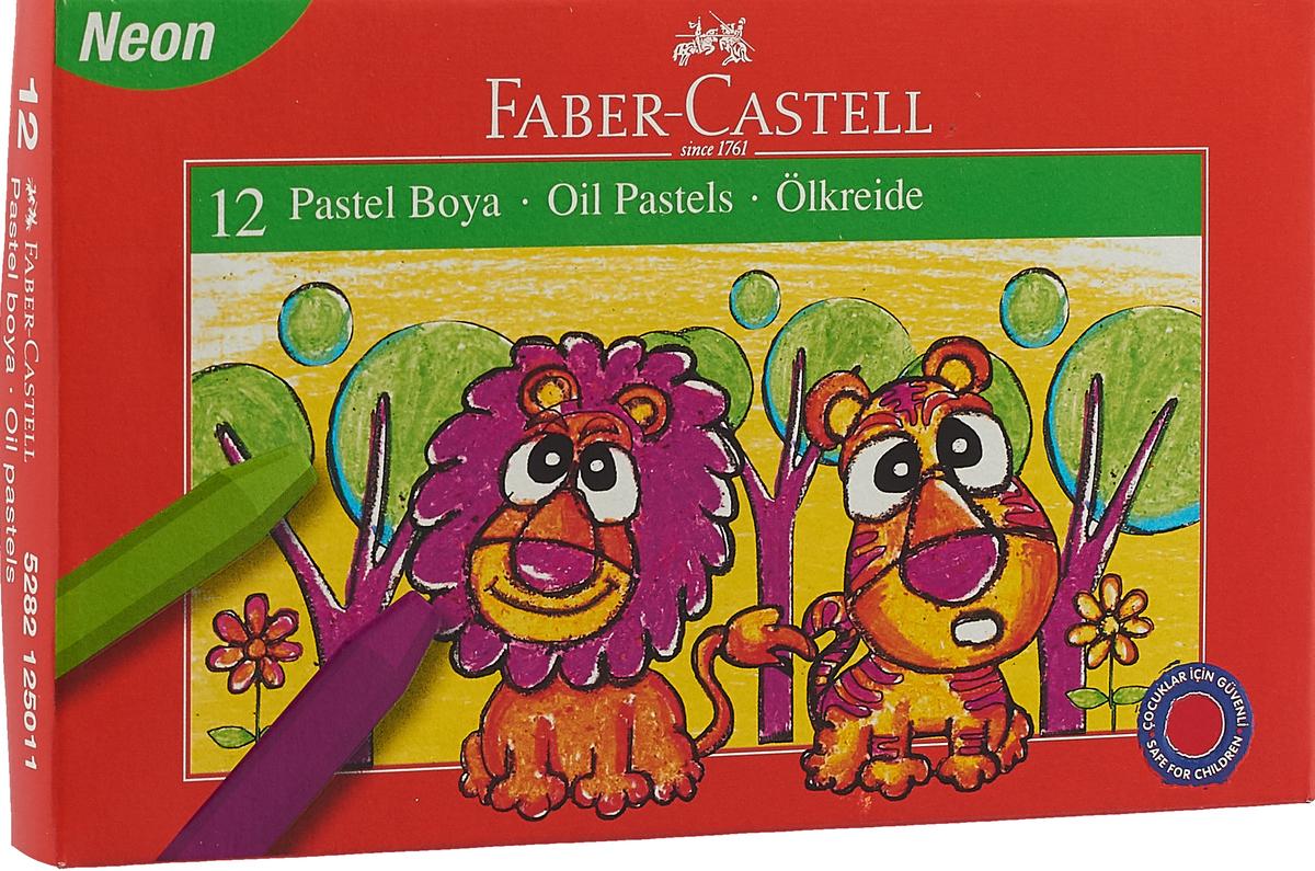 Faber-Castell Масляная пастель в карт коробке 12 шт неоновые цвета цена и фото