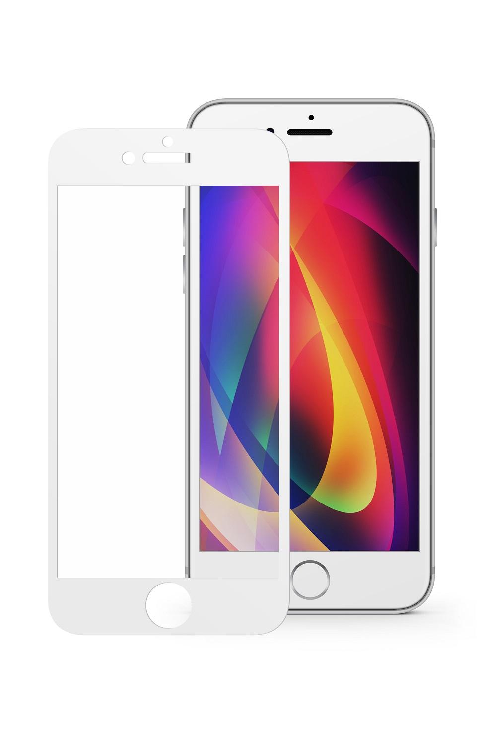 Защитное стекло Mobius Apple iPhone 7/8 Plus, белый защитное стекло mobius apple iphone 7 8 черный