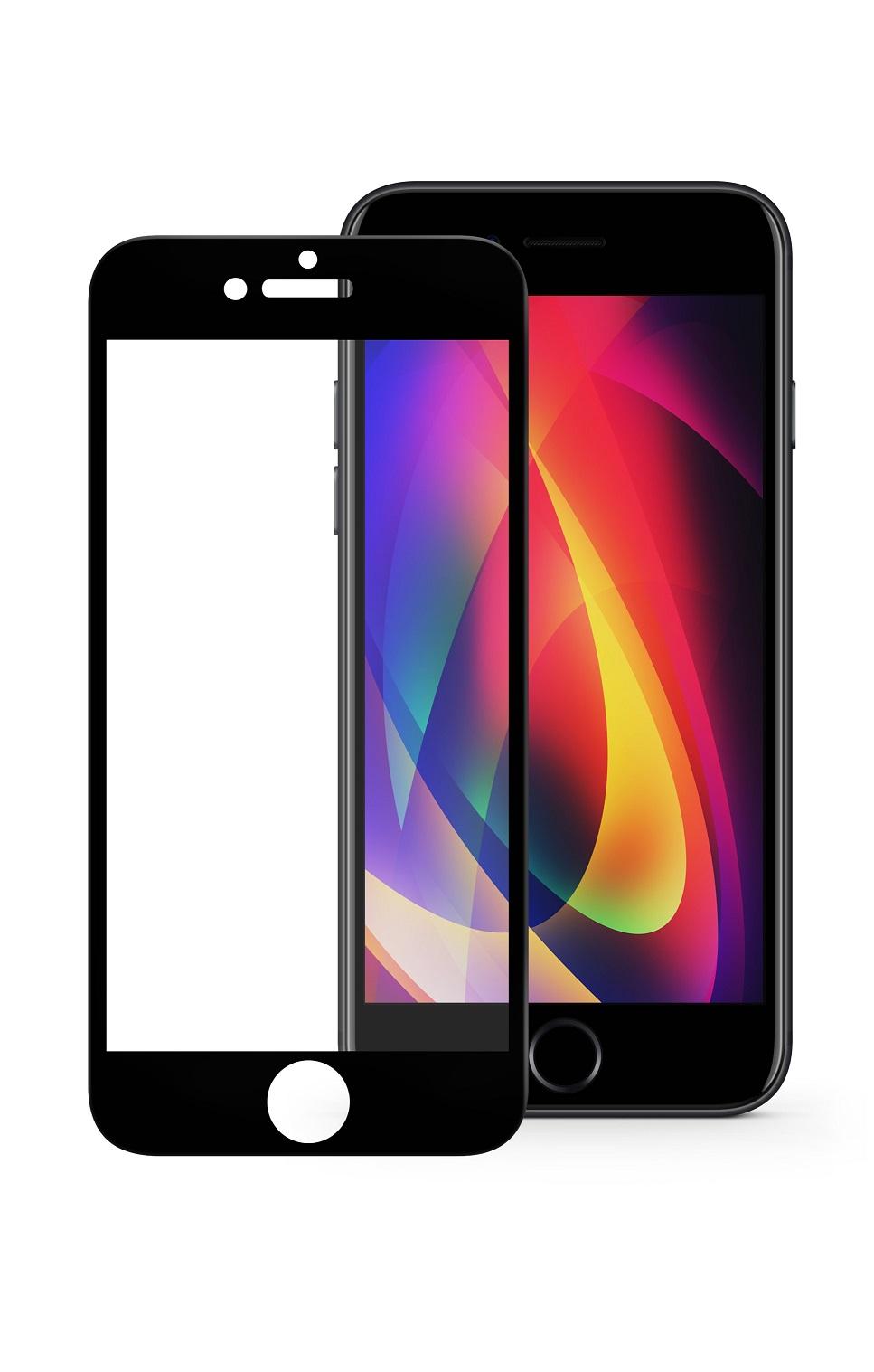 Защитное стекло Mobius Apple iPhone 7/8 Plus, черный защитное стекло mobius apple iphone 7 8 черный