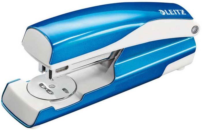 Степлер канцелярский Leitz Nexxt, №24/6, цвет: синий