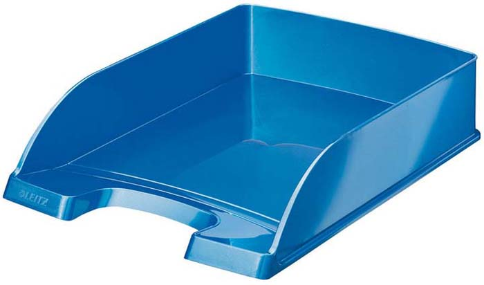 Лоток для бумаг Leitz Wow, цвет: синий