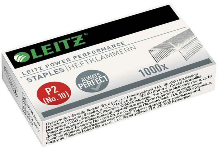 Скобы для степлера Leitz, №10, 1000 шт334451Скобы N10 Leitz поставляются вкартонной упаковке. Предназначены киспользованию электрическими степлерами сосшивающей способностью от2 до20 листов. Скобы N10 выполнены извысококачественного металла, что позволяет избежать замятия бумаги. Набор включает 1000 скоб. Рекомендуем!