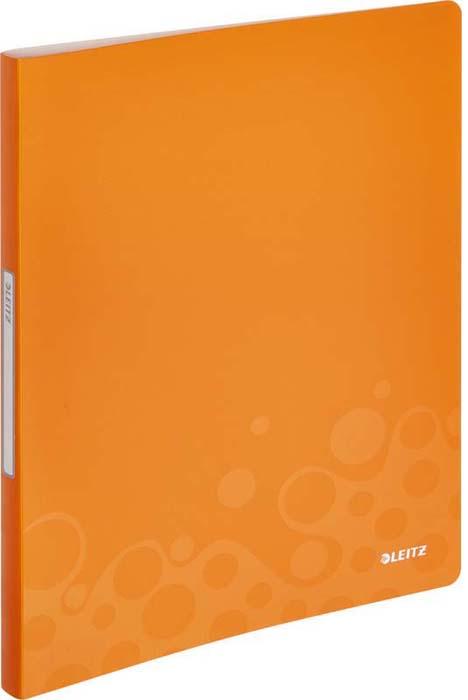 Папка с прозрачными вкладышами Leitz WOW, цвет: оранжевый, с 40 файлами