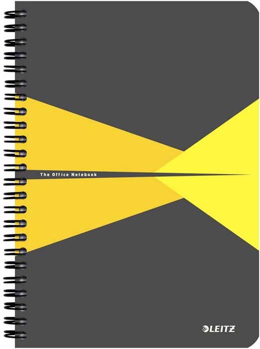 Бизнес-тетрадь Leitz Office Card, А5, клетка, цвет: желтый