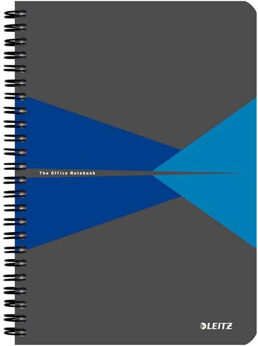 Бизнес-тетрадь Leitz Office Card, А5, клетка, цвет: синий