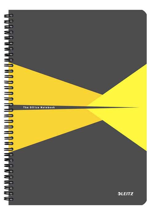 Бизнес-тетрадь Leitz Office, А4, клетка, цвет: желтый