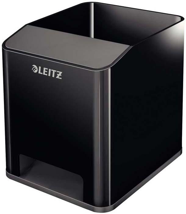 Подставка для канцелярских принадлежностей Leitz WOW, цвет: черный, серый