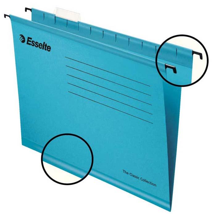 Папка - регистратор Esselte Plus Foolscap, цвет: синий, 25 шт
