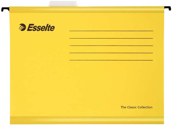 Папка - регистратор Esselte Plus Foolscap, цвет: желтый, 25 шт