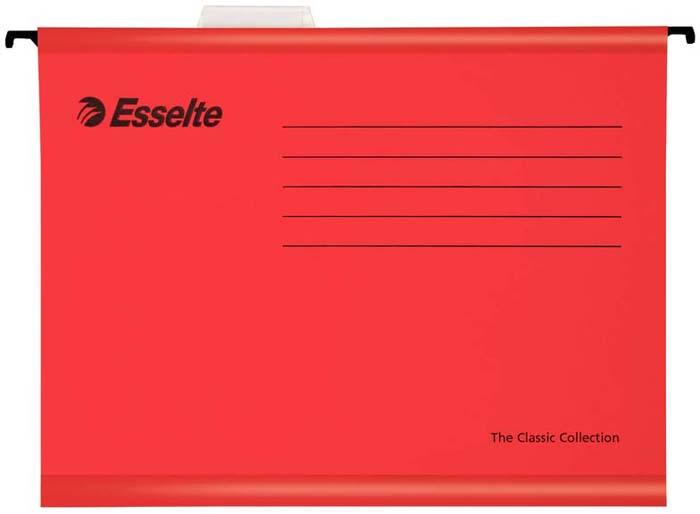 Папка - регистратор Esselte Plus Foolscap, цвет: красный, 25 шт