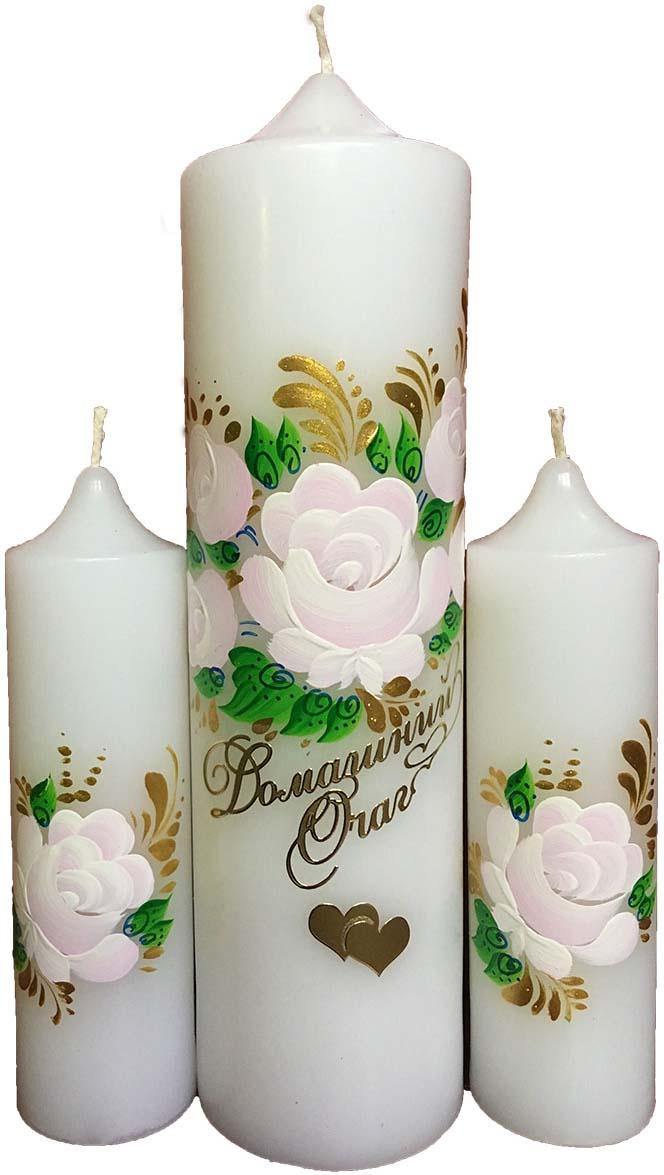 Фото - Свечи свадебные Мир свечей Домашний очаг, ручная роспись, цвет: белый, высота 20 см estabella игровой набор домашний очаг