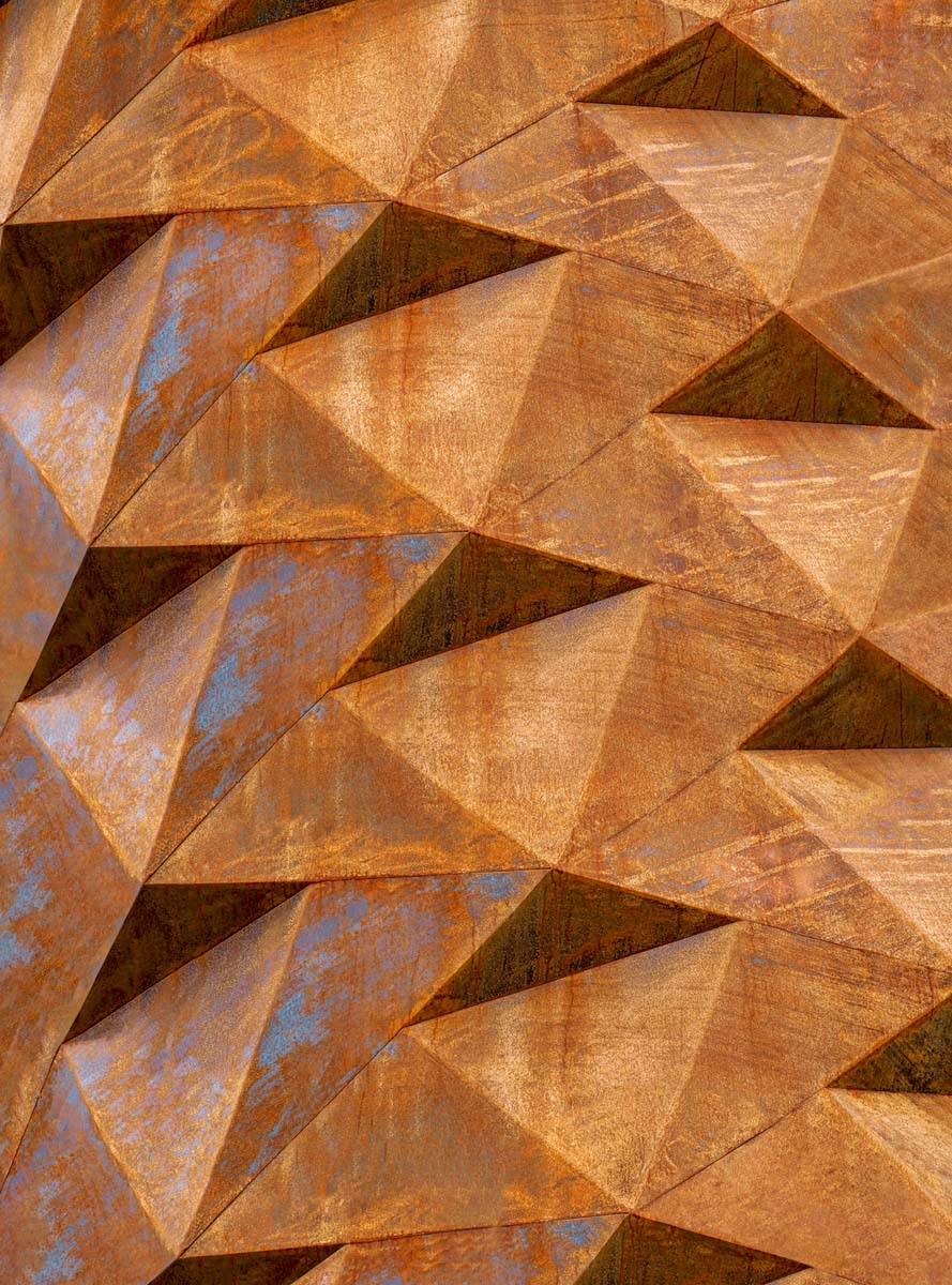 Фотообои флизелиновые Московская обойная фабрика Железная геометрия, 200 х 270 см фотообои флизелиновые московская обойная фабрика балкон с видом на морской город 200 х 270 см