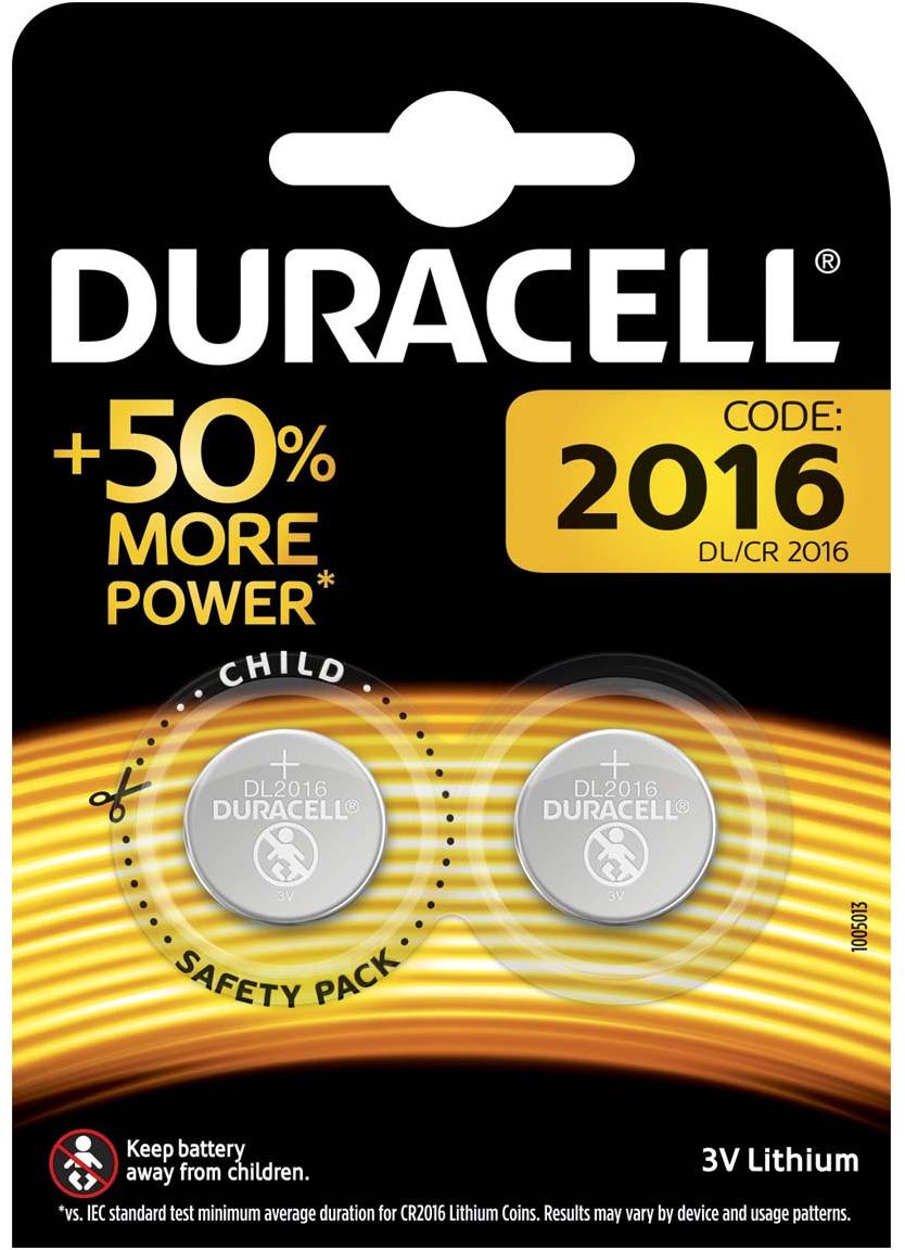 Батарейка Duracell CR2016-2BL, 2 шт батарейки duracell аа lr6 2bl basic cn 2 шт