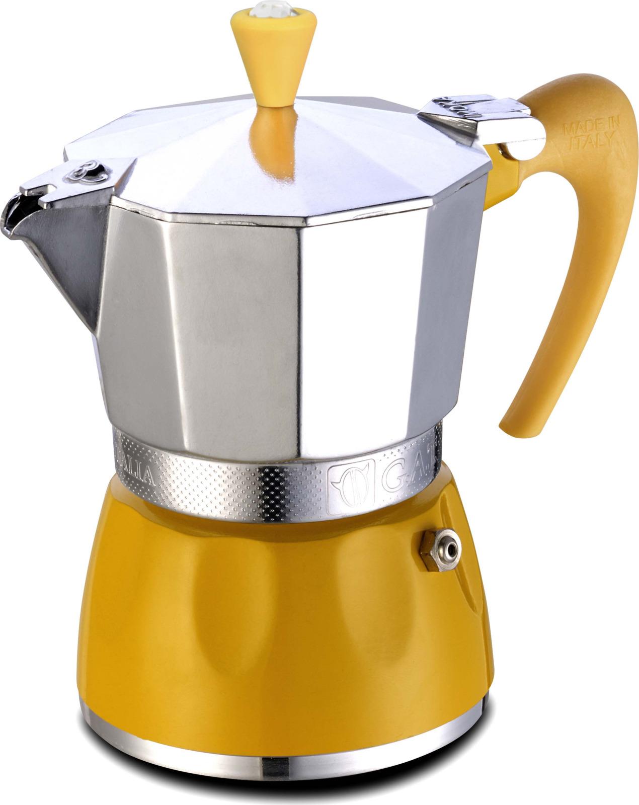 лучшая цена Гейзерная кофеварка 100002 yellow, Алюминий