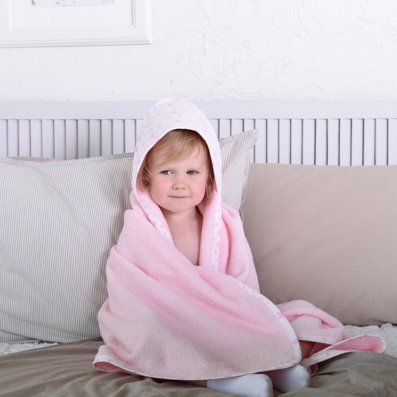 Полотенце детское BabyBunny Полотенце с уголком розовое, Хлопок хлопок возраст purcotton мокрое и сухое мягкое хлопчатобумажного полотенце хлопка полотенце хлопок для удаления 9 12см