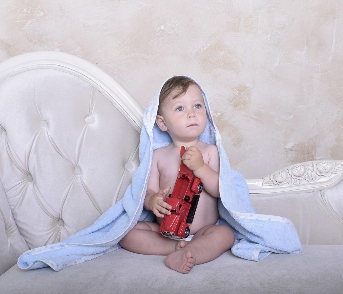Полотенце детское BabyBunny Полотенце с уголком голубое, Хлопок хлопок возраст purcotton мокрое и сухое мягкое хлопчатобумажного полотенце хлопка полотенце хлопок для удаления 9 12см