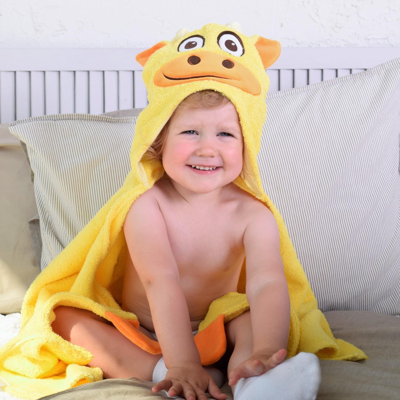 Полотенце с капюшоном BabyBunny Жираф, цвет: желтый imsevimse полотенце с капюшоном cова