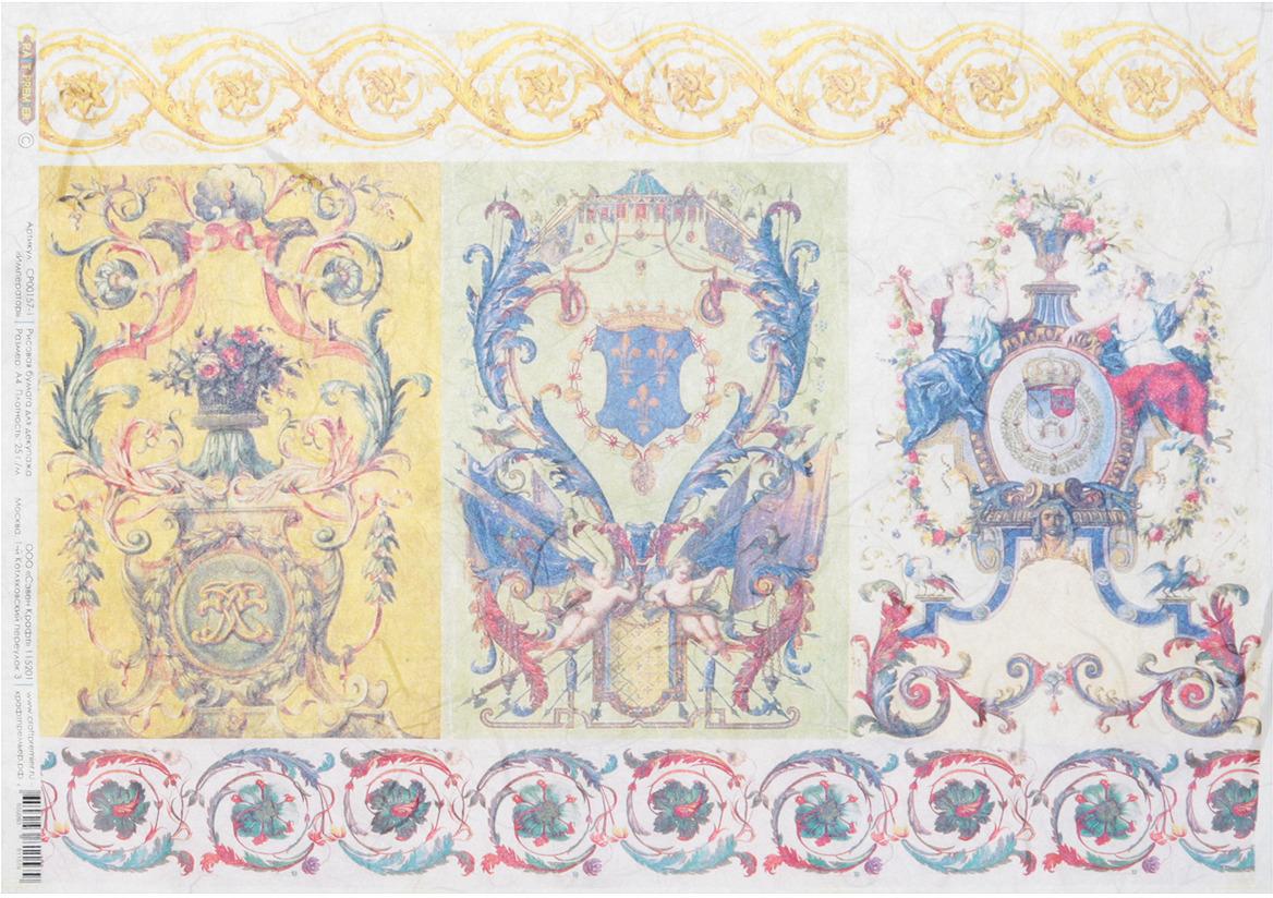 Рисовая бумага для декупажа Craft Premier Император, формат А4 рисовая бумага для декупажа craft premier шебби розы a3