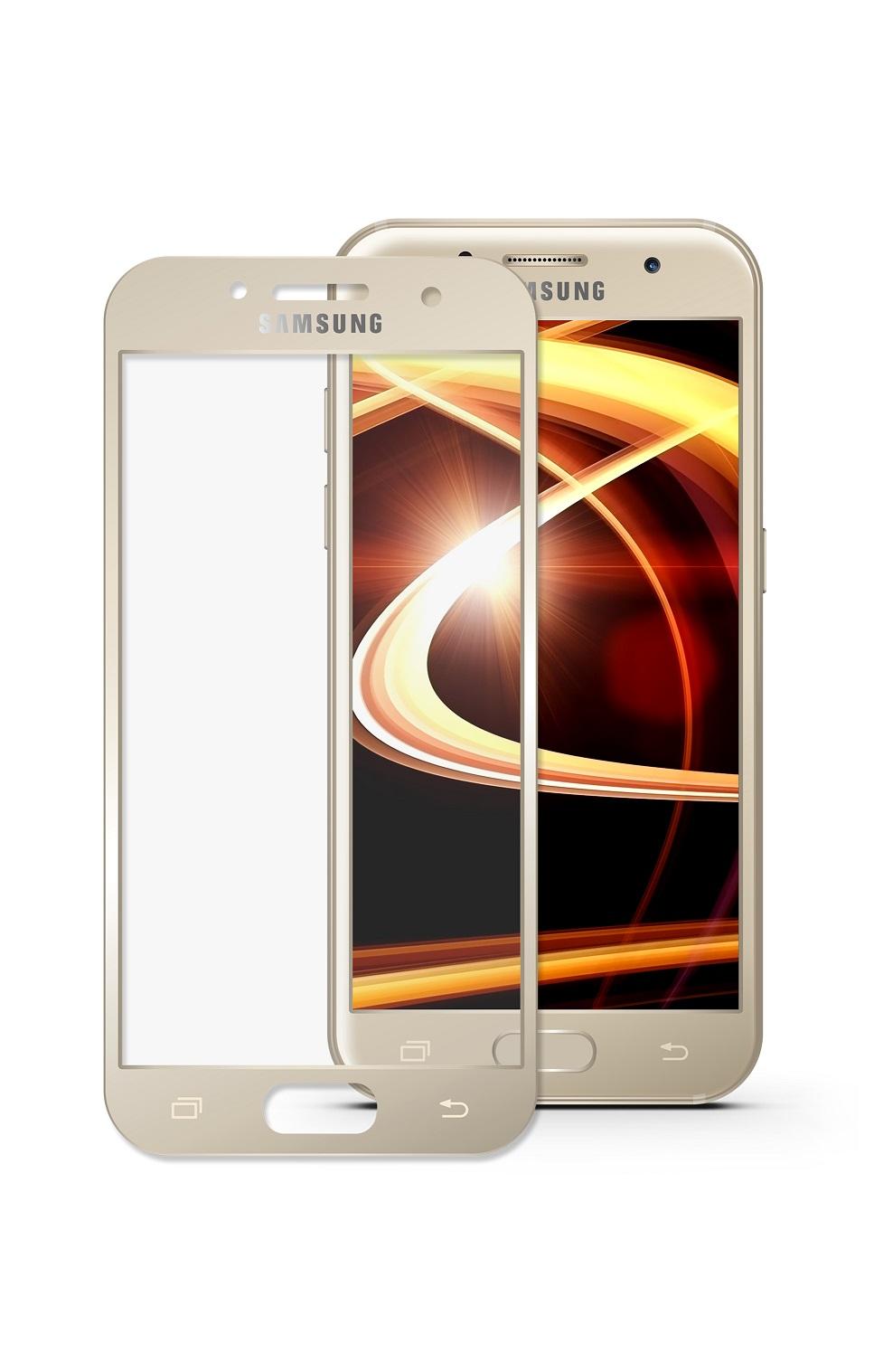 Защитное стекло Mobius для Samsung A5 2017 3D Full Cover (Gold) аксессуар защитное стекло для samsung galaxy a5 2017 mobius 3d full cover gold