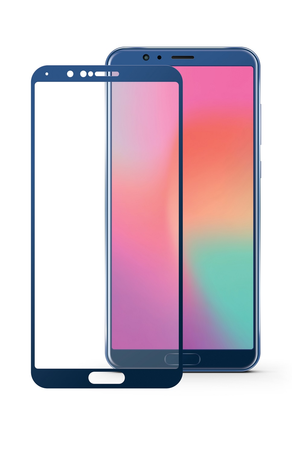 Защитное стекло Mobius для Huawei Honor View 10 3D Full Cover (Blue)