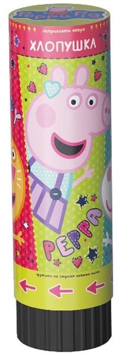 Хлопушка пневматическая Peppa Pig Свинка Пеппа, пружинная, 15 см крекер пневматическая хлопушка бутылка шампанского пластиковый цилиндр 30 см выстрел 5 8 м