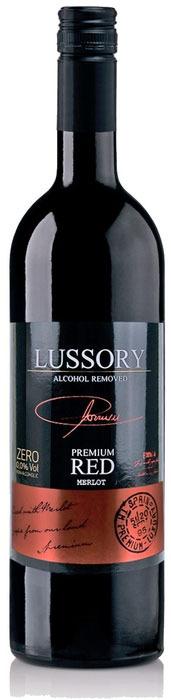 Вино безалкогольное красное полусухое Lussory Premium Merlot, 750 мл rimuss secco шампанское полусухое безалкогольное 0 75 л