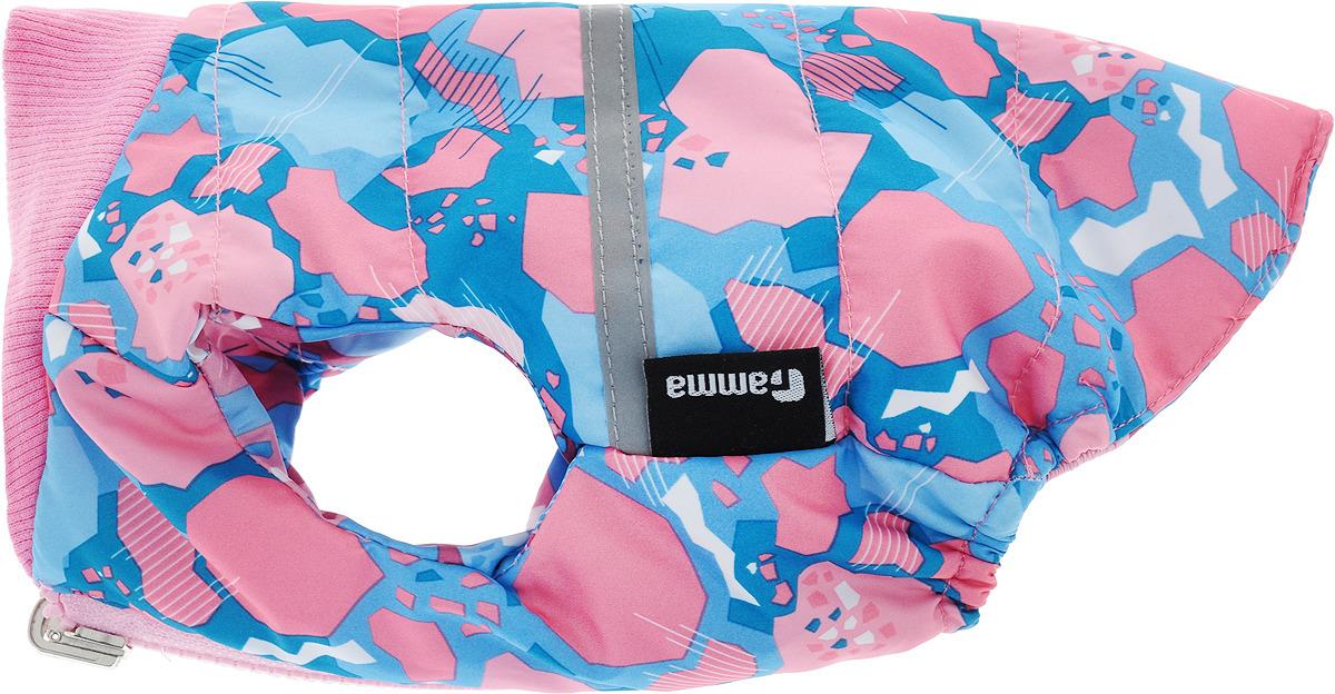 Жилет для собак Gamma, двухсторонний, унисекс, цвет: розовый. Размер S жилет утепленный olmi м 327 серебро 40 158 40 158 80 размер