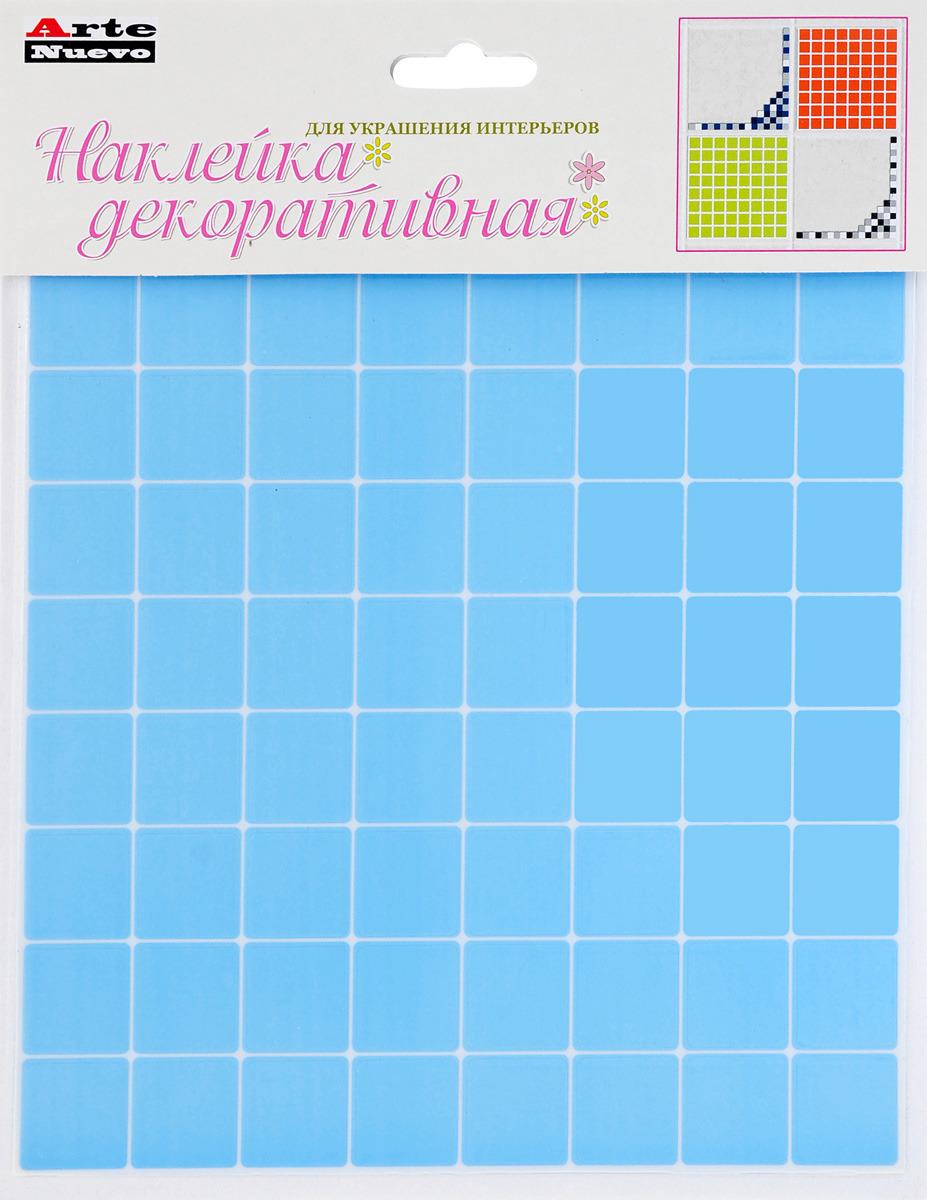 Наклейка декоративная Arte Nuevo, для кухни и ванной комнаты, цвет: голубой, 20,6 х 26 см. наклейка для ванной комнаты pushy