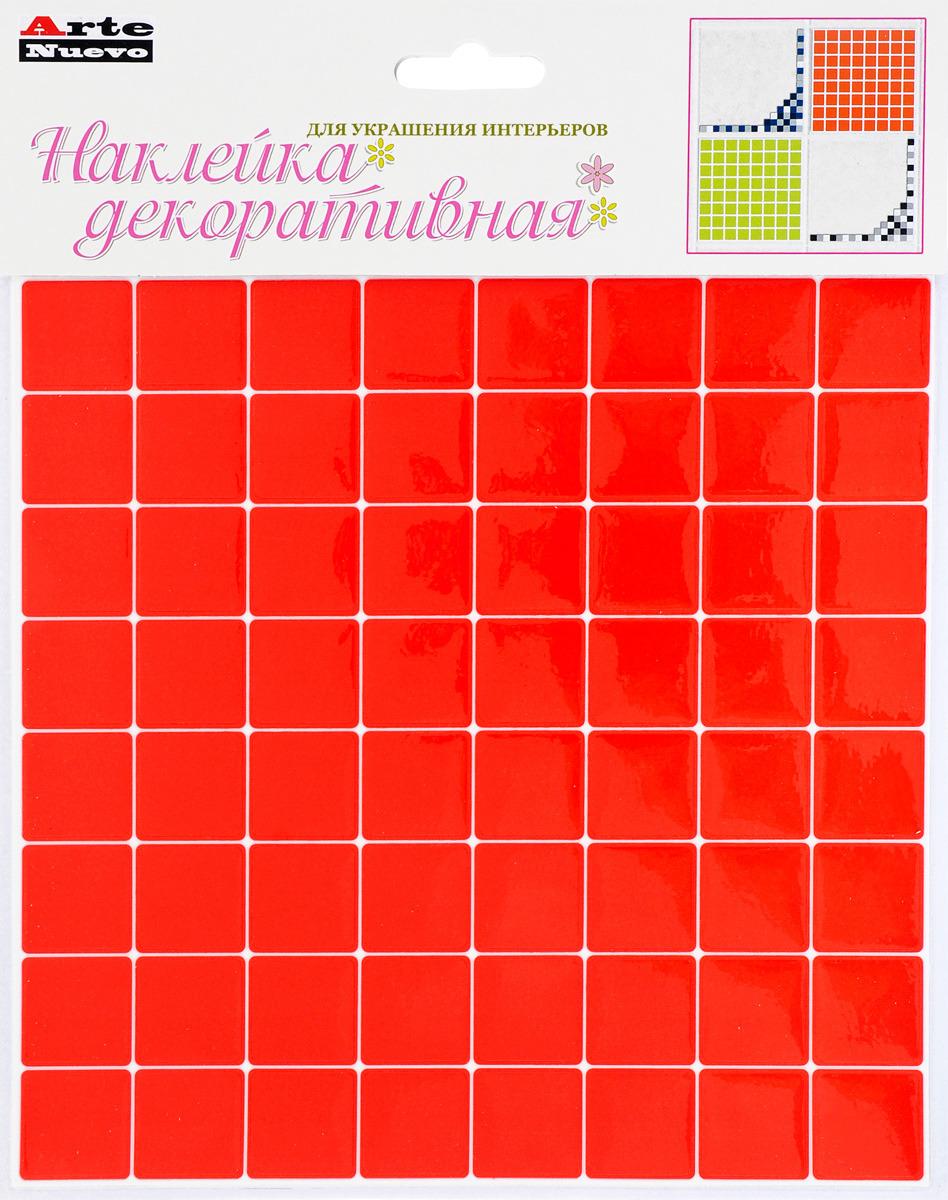 Наклейка декоративная Arte Nuevo, для кухни и ванной комнаты, цвет: оранжевый, 20,6 х 26 см. наклейка для ванной комнаты pushy