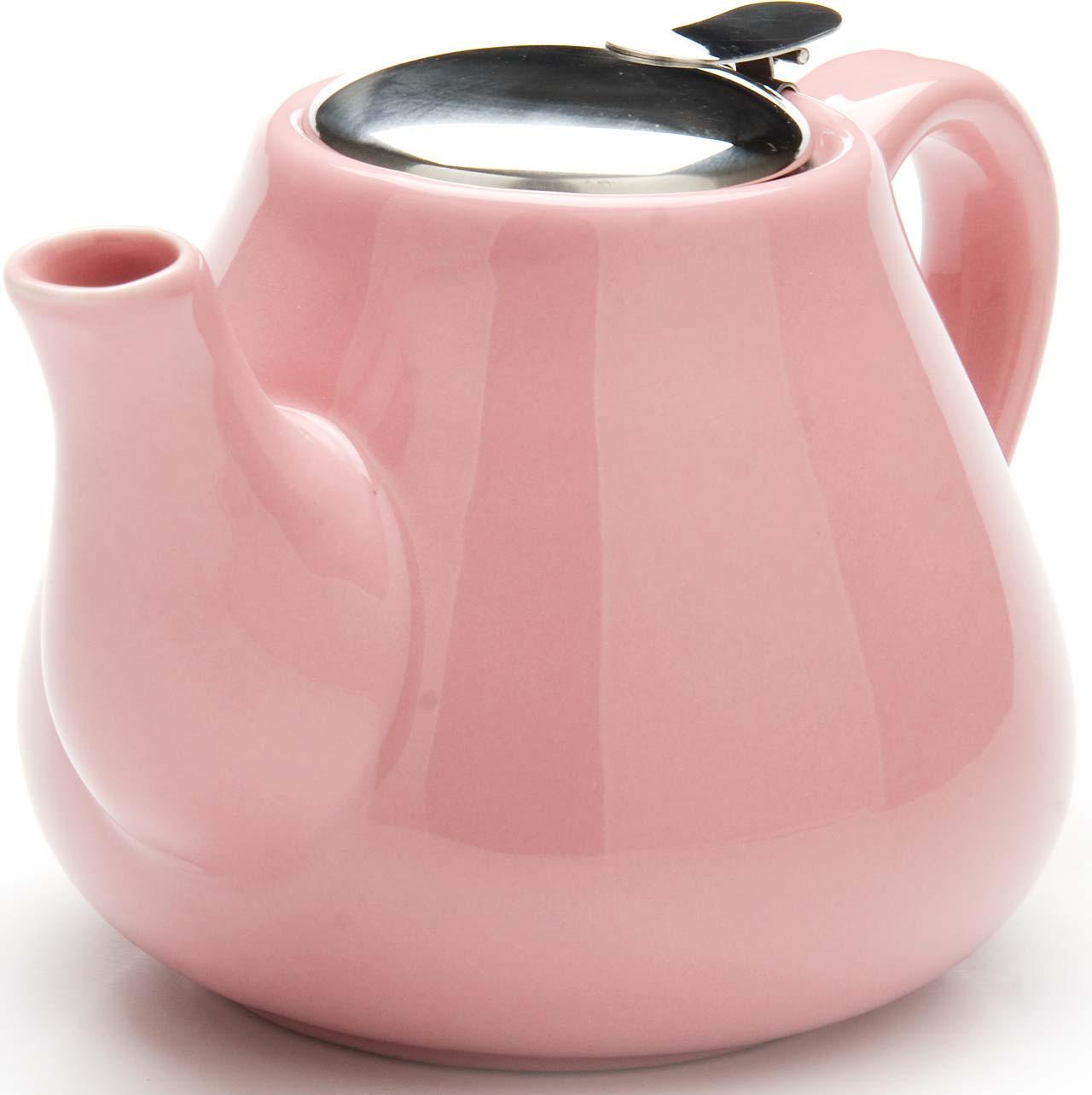 Чайник заварочный Loraine, цвет: розовый, 950 мл