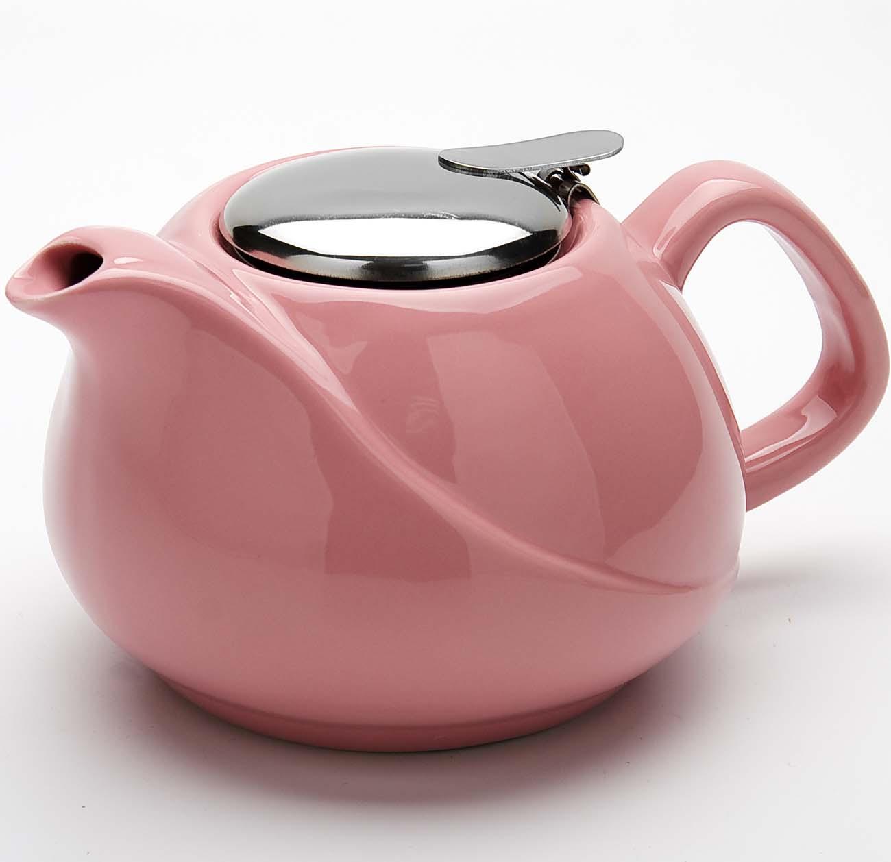 Чайник заварочный Loraine, цвет: розовый, 750 мл заварочный чайник loraine цвет красный 750 мл 26597 3