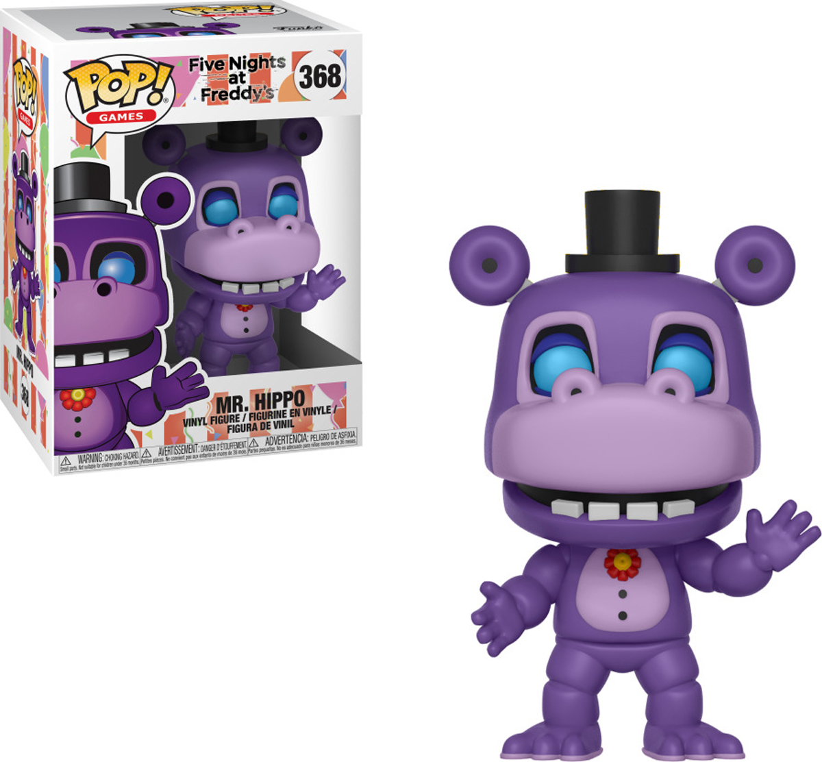 все цены на Фигурка Funko POP! Vinyl: Games: FNAF Pizza Sim: Mr. Hippo 32061 онлайн