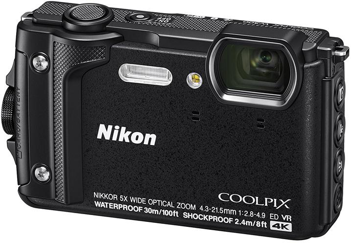 Компактная фотокамера Nikon CoolPix W300, цвет: черный фотоаппарат nikon coolpix w300 orange 16 0mp 5x zoom 3 0 sdxc влагозащитная ударопрочная водонепроницаемый 30 метров
