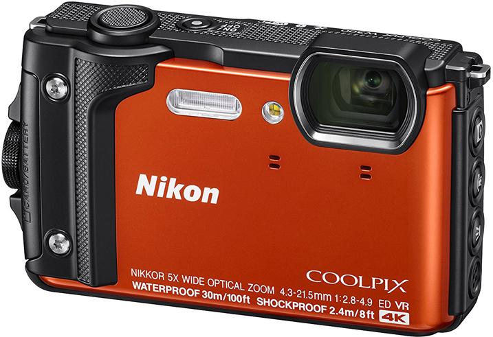 Компактная фотокамера Nikon CoolPix W300, цвет: оранжевый