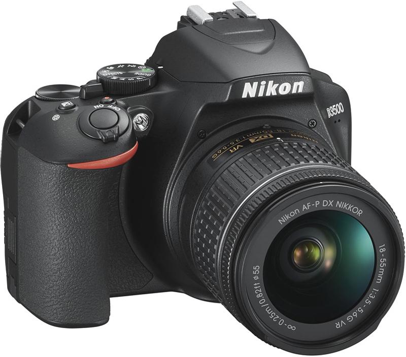 Зеркальная фотокамера Nikon D3500 18-55mm VR, цвет: черный зеркальный фотоаппарат nikon d3400 kit 18 55mm f 3 5 5 6 vr af p черный
