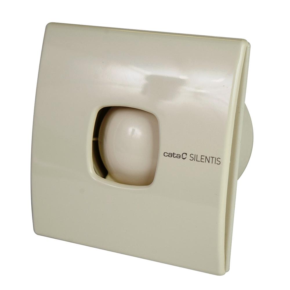 Вытяжной вентилятор CATA SILENTIS 12 T8422248016988Бытовой вытяжной вентилятор; передняя крышка снимается без винтов (отвертки) для более простой чистки; простая система установки (без винтов); аэродинамичная (обтекаемая) форма для улучшения потока воздуха; обратный клапан; таймер отключения. Диаметр 120 мм, ширина 170 мм, высота 170 мм, глубина 95 мм. Производительность 190 м3/ч, мощность 20 Вт. Цвет слоновая кость. Уровень шума 39 db. Электродвигатели Johnson. Корпус из ABS пластика (стойкий к пожелтению). Страна происхождения - Испания.