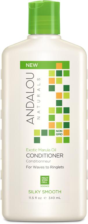 Кондиционер Andalou Naturals Экзотическое масло марулы, для жестких и вьющихся волос, 340 мл