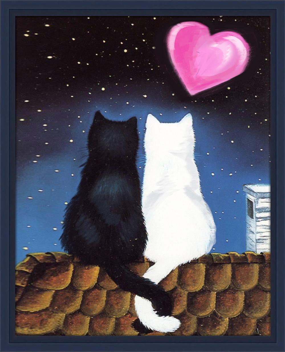 Открытка 2 кота, рождественские открытки печать