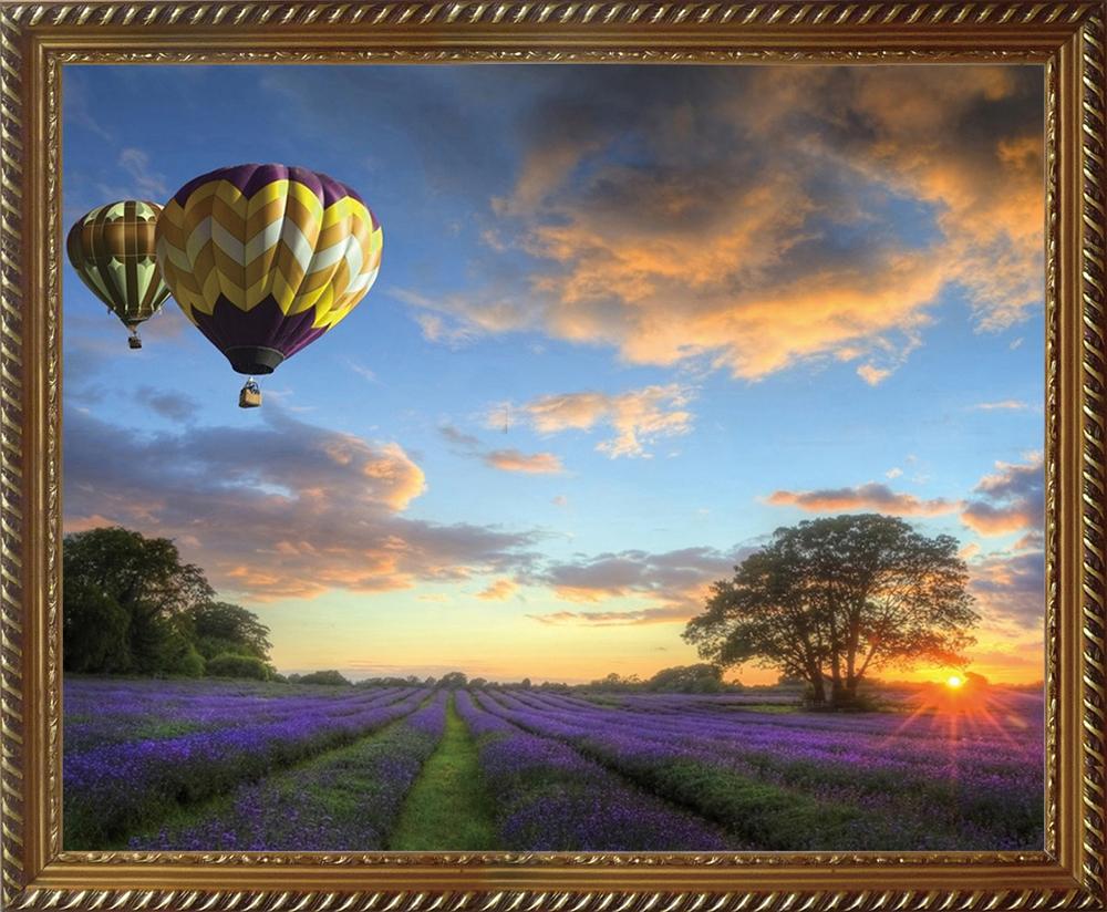 """Картина стразами Алмазная Живопись """"Полет на воздушном шаре"""" (АЖ-1414), 51 цвет, 50х40 см"""