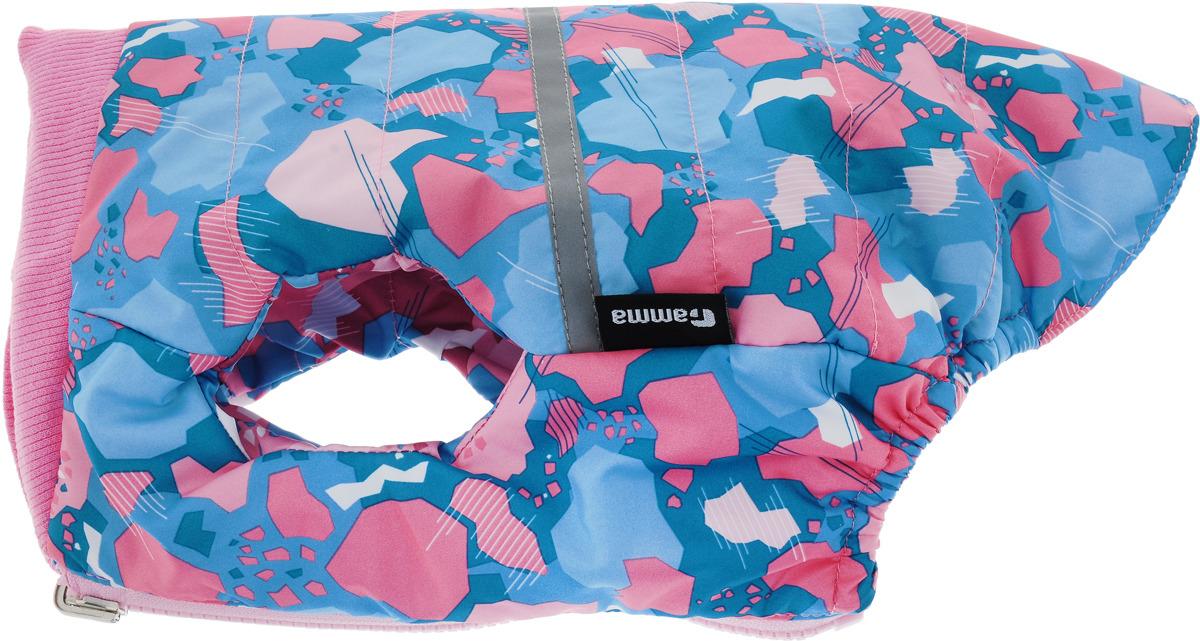 Жилет для собак Gamma, двухсторонний, унисекс, цвет: розовый. Размер L жилет утепленный olmi м 327 серебро 40 158 40 158 80 размер