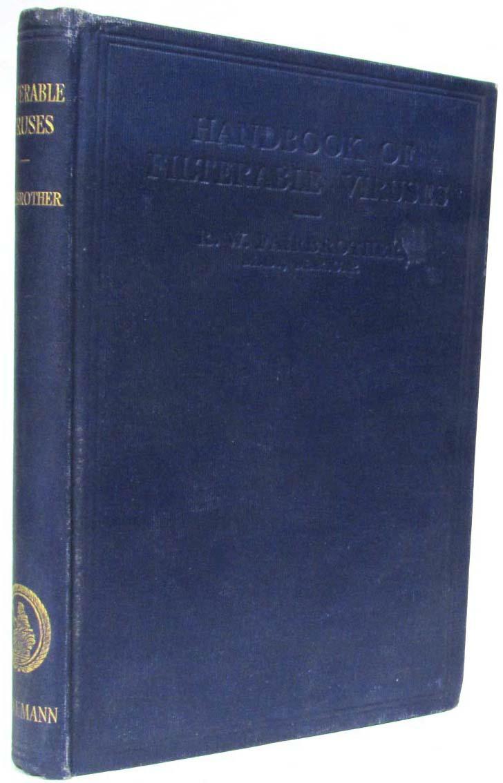лучшая цена R.W. Fairbrother Handbook of Filterable Viruses