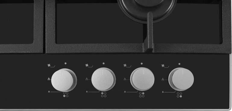 Варочная панель Simfer H60H40S412, газовая, цвет:  черный Simfer
