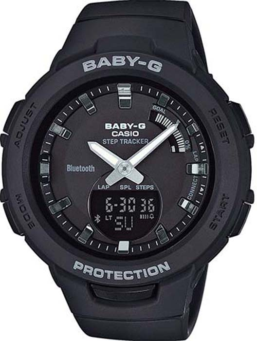 цена Часы наручные женские Casio Baby-G, цвет: черный. BSA-B100-1AER онлайн в 2017 году